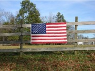 AAA Fence Master Fence Wood American Flag